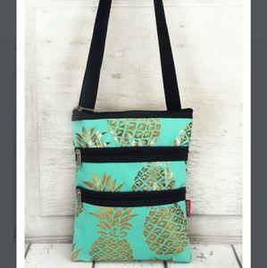 Handbags - New Gold Pineapple Mint Crossbody Bag!
